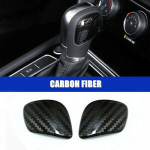 Carbon Gear Shift Knob Cover Trims For Volkswagen Vw Jetta 2012 2019 Accessories