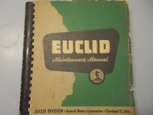 Euclid Maintenance Mining Truck Manual Models Td 1 To 63