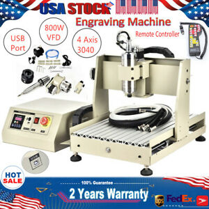 Usb Cnc3040t 4 axis Router 800w Engraving Cutting Engraver Machine handwheel Rc