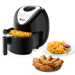 1800w 5 3 L Electric Air Fryer W 7 Cooking Presets Temperature Control Timer