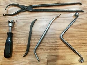 Vtg Brake Service Tools Lot Plomb Snap on S5913 Retainer Spring Pliers Bleeders