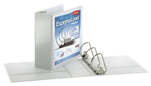 Cardinal Expressload Clearvue Locking D ring Binder 4 In White