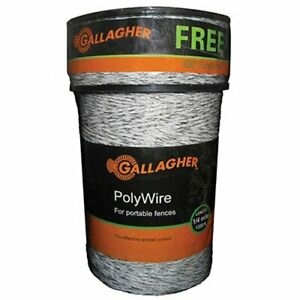 Gallagher G620300 Electric Polywire Fence Combo Roll 1312 feet 328 Free White