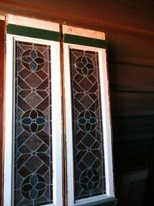 Stained Glass Side Lite Window 2 Piece Set We Ship