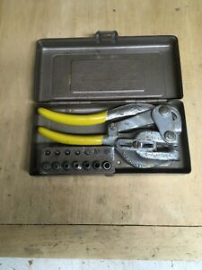 Vintage Roper Whitney Inc Punch No 5 Jr With Case Usa