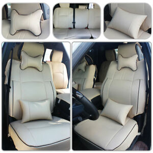 Us Car Seat Cover Truck Beige Pu Leather For 2009 2018 Dodge Ram 1500 2500 3500