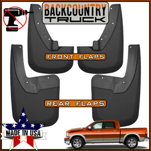 Backcountrytruck No Drill Mud Flaps Fit 2009 2019 Dodge Ram W Oem Fender Flares