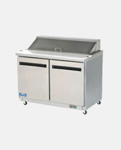 Arctic Air Ast48r 48 2 Door Refrigerated Commercial Sandwich Prep Table Cooler