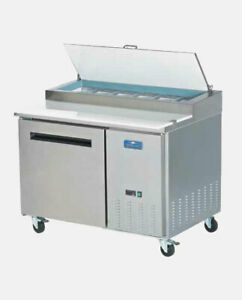 Arctic Air App48r 48 Commercial One Door Pizza Prep Refrigerator Table Cooler N