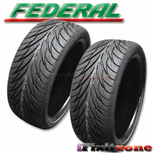 2 New Federal Ss595 255 40zr18 99w Xl Bsw All Season Uhp High Performance Tire