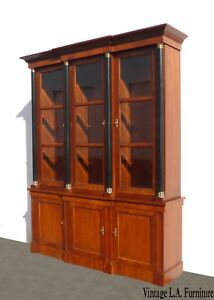 Vintage China Cabinet By Baker Furniture Federal Style Breakfront Curio