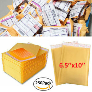 250x Kraft Bubble Mailers Padded Mailing Bags For Ebay Amazon Shipping Envelopes
