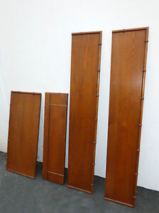 Mid Century Wall Unit Bookcase Bamboo Style Shelves Display Case