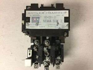 Cutler Hammer A10dno Size 2 Motor Starter With A 120 Volt Coil