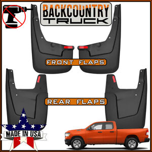 Backcountrytruck No Drill Mud Flaps Fit New Body 2019 Ram 1500 W o Fender Flares