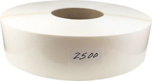 Clear Circle Package Seal Stickers 2 Inches Round 2500 Labels On A Roll