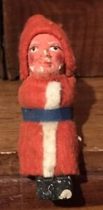 Christmas Antique German Primitive Folk Art Clay Face Boot Belsnickle Santa Aafa