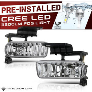Built In Led Chevy Silverado 99 02 Truck Ss 1500 2500 Replacement Fog Lights