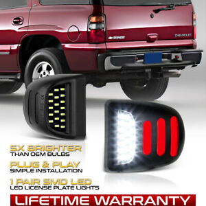 Tron Style 2000 2006 Tahoe Suburban Yukon Black Led License Plate Light Lamp