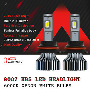 9007 Hb5 Led Headlight High Low Beam White Bulb 9000lm For Ford F150 1997 2003 D