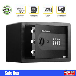Electronic Digital Safe Box Keypad Lock Wall Mounted Home Security Cash Jewelry
