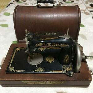 Antique Sewing Machine Japanese Hand Winding Decor Home Vintage With Box