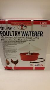 Little Giant Covered Automatic Poultry Waterer 166386 Open Box New Read