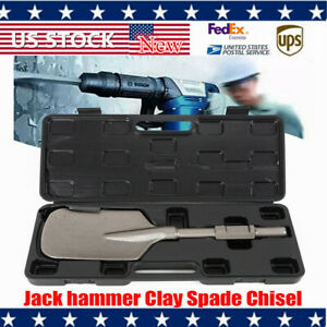 New Jackhammer Shovel Demolition Width Clay Spade Wide Pointed Chisel Tipped Usa
