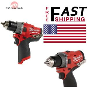 Milwaukee M12 Brushless Cordless 1 2 Hammer Drill Fuel 12v Lithiumion Tool Only