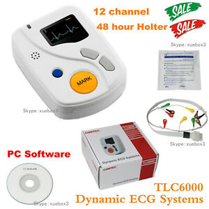 Tlc6000 Dynamic Ecg Systems 12 Lead Holter 48 Hour Recorder With Pc Software Ce