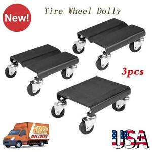 3pcs Tire Car Dolly Auto Repair Snowmobile Moving Dollies Set 1500lbs Capcity