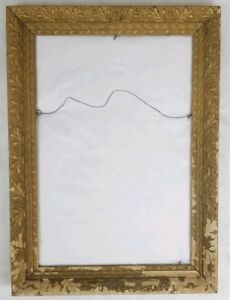 Antique Gesso Wood Picture Frame French Baroque Vintage 20 X 28