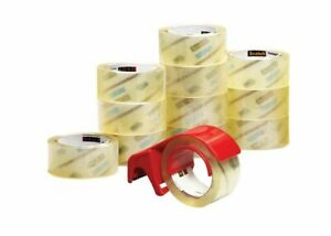 Scotch Commercial Grade Packing Tape In Dispenser 1 7 8 X 54 6 Yd 12 pack