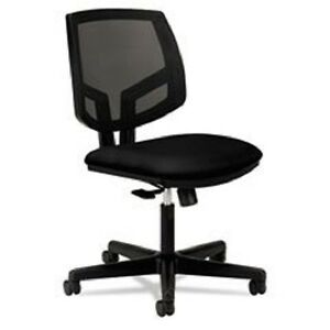 Volt Series Mesh Back Task Chair Black Fabric