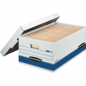 Bankers Box Stor file 60 Recycled Storage Boxes Lift off Locking Lid 24 X