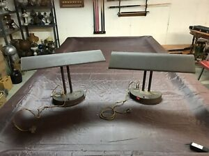 2 Vintage Machine Industrial Age Steampunk Desk Lamp Light Need Wiring