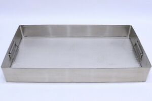 Stainless Steel Surgical Instrument Sterilization Tray Case Base 24x13x3 1 2