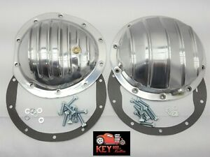 Gm 10 Bolt 8 5 Polished Aluminum Differential Covers Front Rear Chevy Gmc