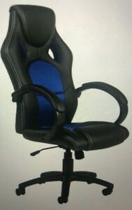 Leather Racing Style Design Swivel Office Chair For Gaming Work W high back Seat