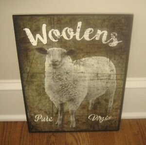 Lamb Sheep Wall Picture Sign Primitive French Country Farmhouse Urban Barn Decor