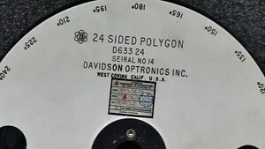 Davidson Optronics Inc D633 24 15 Degree 24 Side Optical Polygon Mirror