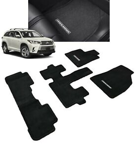 2014 2019 Highlander Floor Mats Carpet 7 Passenger Genuine Toyota Pt926 48191 20