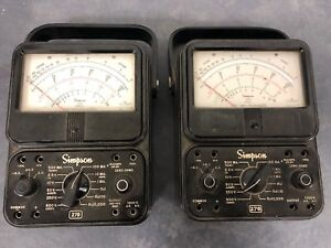 Lot Of 2 Simpson 270 series 1 Extra high Accuracy Analog Multimeter