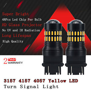 3157 4157 3457 Led Amber Yellow Turn Signal Light Bulb Car Blinker Corner 2pc D9