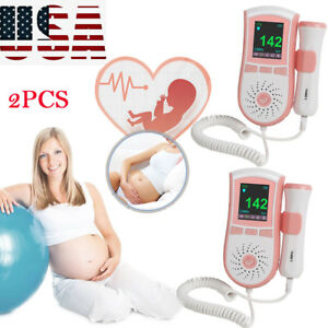 2pcs Fetal Doppler 3m Probe Ultrasound Prenatal Baby Heart Rate Monitor Usa Sell