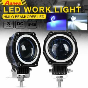 2x 3 Inch Led Work Light Motorcycle For Offroad Suv Pods Truck Suv Hi
