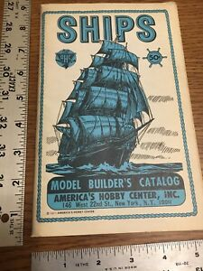 Vintage Ships Model Builder Catalog 1971 With Error Printing See Description