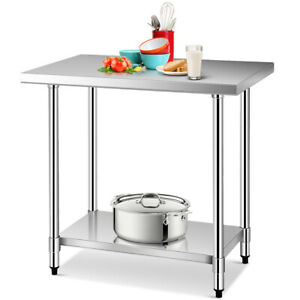 24 X 36 Stainless Steel Food Prep Table Commercial Kitchen Work New