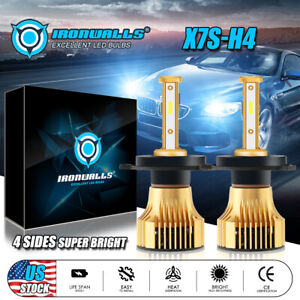 4 Sided Cree H4 Hb2 9003 1900w 285000lm Led Headlight Kit Hi Lo Power Bulb 6000k