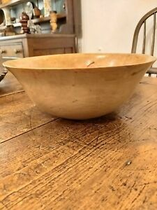 Treen Turned Arts And Crafts Apple Wood Bowl Fruit Bowl